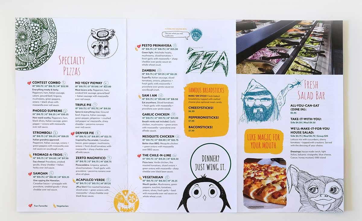 Flying Pie menu