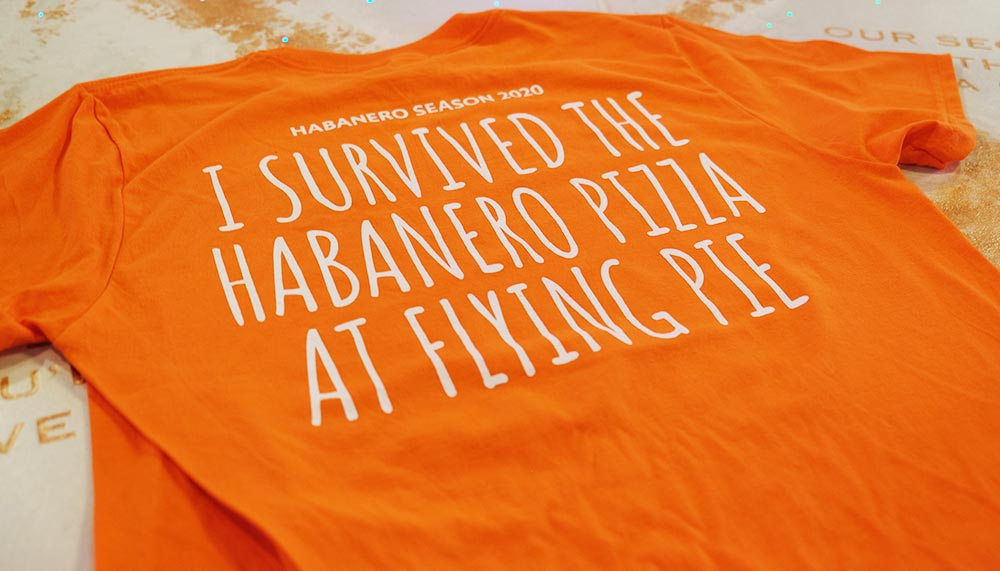 Flying Pie habanero tshirt