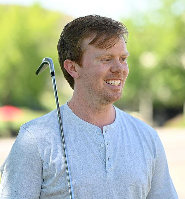 Cameron Stewart playing golf