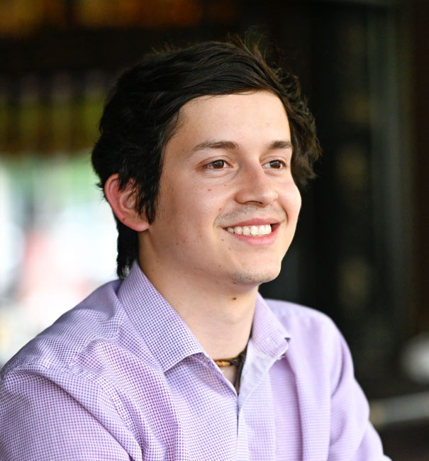 Antonio Gallegos smiling
